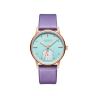 Đồng hồ nữ Julius Hàn  Quốc JA-1224C dây da tím mặt xanh