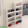 Kệ giày tiết kiệm không gian 5 tầng rộng 40cm giúp nhà gọn gàng hơn IG347