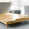 Giường đôi Camelia gỗ cao su 1m6 - cozino
