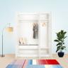 Set tủ quần áo MOHO VIENNA 3 cánh (thanh treo) màu trắng