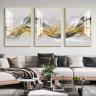 Tranh treo tường tráng gương pha lê cao cấp lụa vàng (40x60x3cm)
