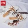 Dép cao gót Erosska thời trang mũi vuông phối dây quai mảnh cao 5cm EM038 (BA)