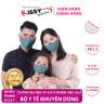 Combo 3 khẩu trang Kissy gia đình chống bụi mịn với 7 mẫu vải cá tính