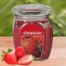 Hũ nến thơm tinh dầu Bolsius Strawberry 305g QT024370 - hương dâu tây