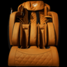 Ghế massage Dr.Care Golfer – GF838 – Màu đỏ – nội thất Nâu Vàng