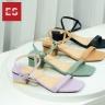 Giày sandal nữ thời trang Erosska kiểu dáng Hàn Quốc phối màu pastel đế cao 5cm EB021