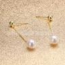 Bông tai Ngọc trai Thiên nhiên Cao cấp - Thiết kế dáng dài - ChainDropPearl (8-9ly) - CTJ1510