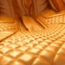 Ghế massage Phi Thuyền Vũ Trụ SS 919X – Màu vàng lemon – Nội thất nâu đậm