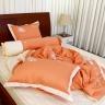 Bộ chăn drap gối cao cấp bọc màu thêu Thắng Lợi 160x200cm - SE (Màu Cam)