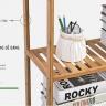 Kệ sách đa năng kiểu hàn 3 tầng gỗ tre cao cấp