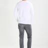Bộ 3 áo thun nam dài tay trơn cổ tròn chất thun cotton pigofashion adt01 Xám nhạt, trắng, đen