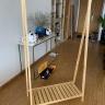 Kệ treo quần áo gỗ chữ a- 2 tầng
