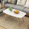 Bàn trà sofa, bàn trà hình chữ nhật được bo tròn 4 góc đa năng chân gỗ sồi - gp101