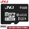 Thẻ nhớ 64Gb  JVJ Class 10 Dùng cho tất cả các dòng thiết bị hỗ trợ thẻ nhớ micro, camera giám sát