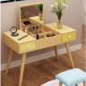Bàn trang điểm thông minh gương gập tiện ich gỗ mdf  phủ melamin cao cấp ̣(không bao gồm ghế)
