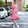 Đầm xòe thời trang thiết kế Hity DRE134 (hồng anh đào)