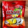 03 Thanh kẹo dừa hiệu Bà Hai Tỏ Bến Tre - vị Sầu Riêng (mỗi thanh 10 viên) 142.5gr