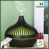 Combo máy khuếch tán, máy xông tinh dầu Lorganic giọt nước sọc FX2073 - có remote + tinh dầu sả chanh Lorganic 10ml