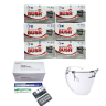 Combo 3 món phòng dịch Khẩu trang y tế 4 lớp BUSH + Kính bảo hộ Asia + Bộ test nhanh Covid-19 BioCredit