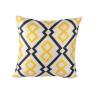 Vỏ gối tựa pattern Index Living Mall màu vàng