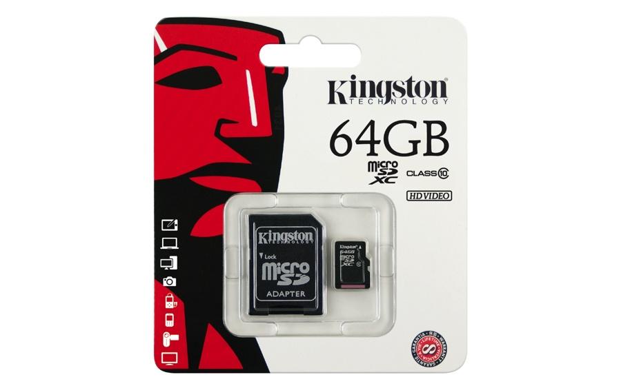 Thẻ nhớ Kingston 64GB class 10