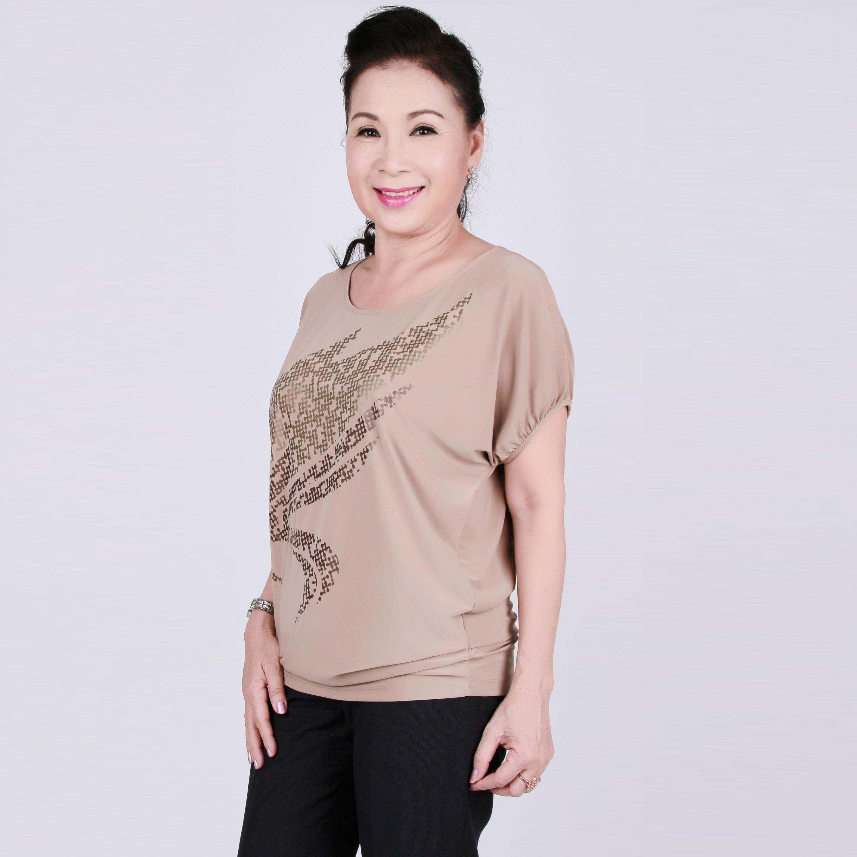 Áo kiểu nữ trung niên form rộng - UPAR16