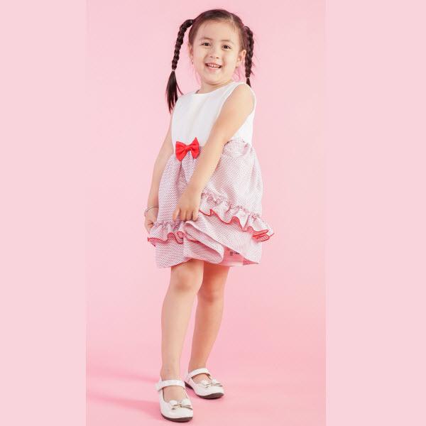 Đầm xòe bé gái UKID150