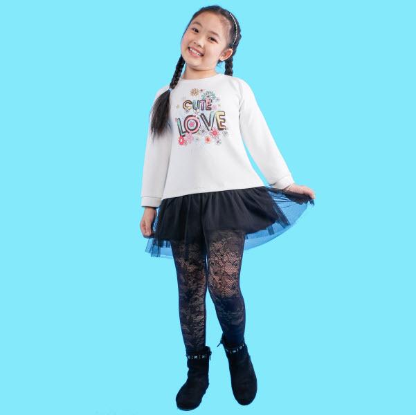 Đầm xòe bé gái UKID153