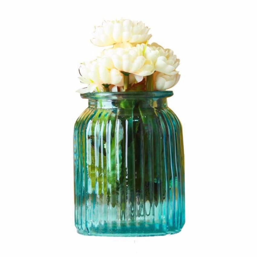 Lọ hoa thủy tinh trang trí (Màu xanh F)