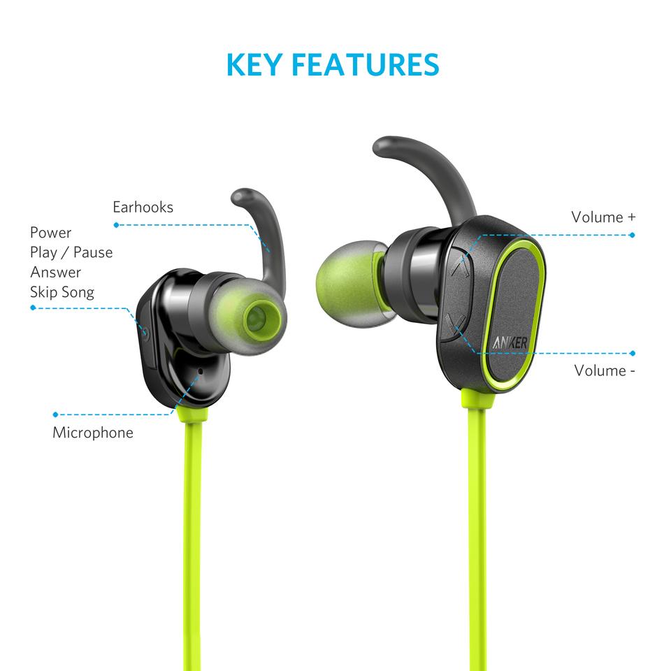 Tai nghe bluetooth thể thao - Anker Soundbuds - A3233HM1