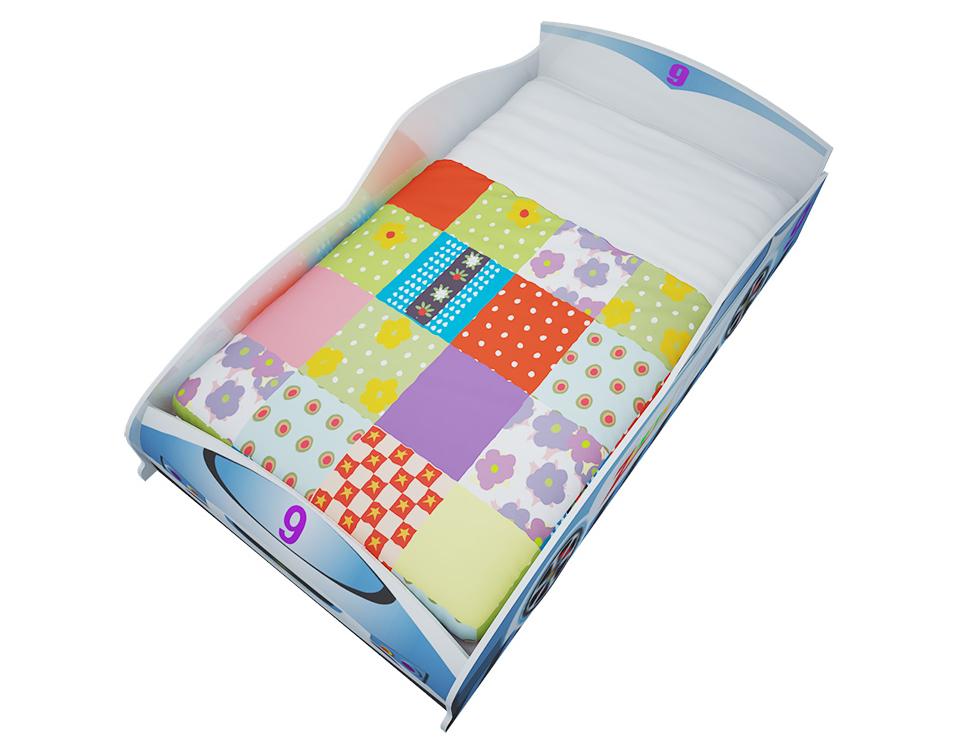 Giường trẻ em hình ô tô số 9 GD01-B - 1,4m (Xanh da trời)
