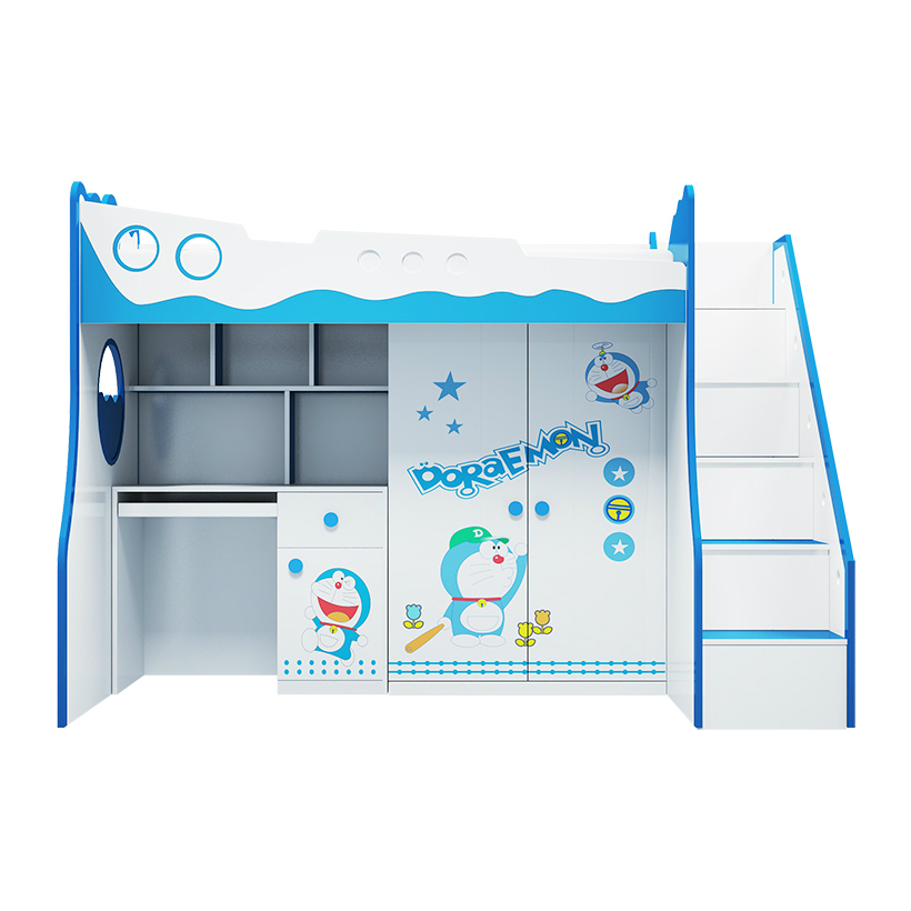 Giường tầng trẻ em 3 trong 1 Doraemon GT12 (Xanh dương)