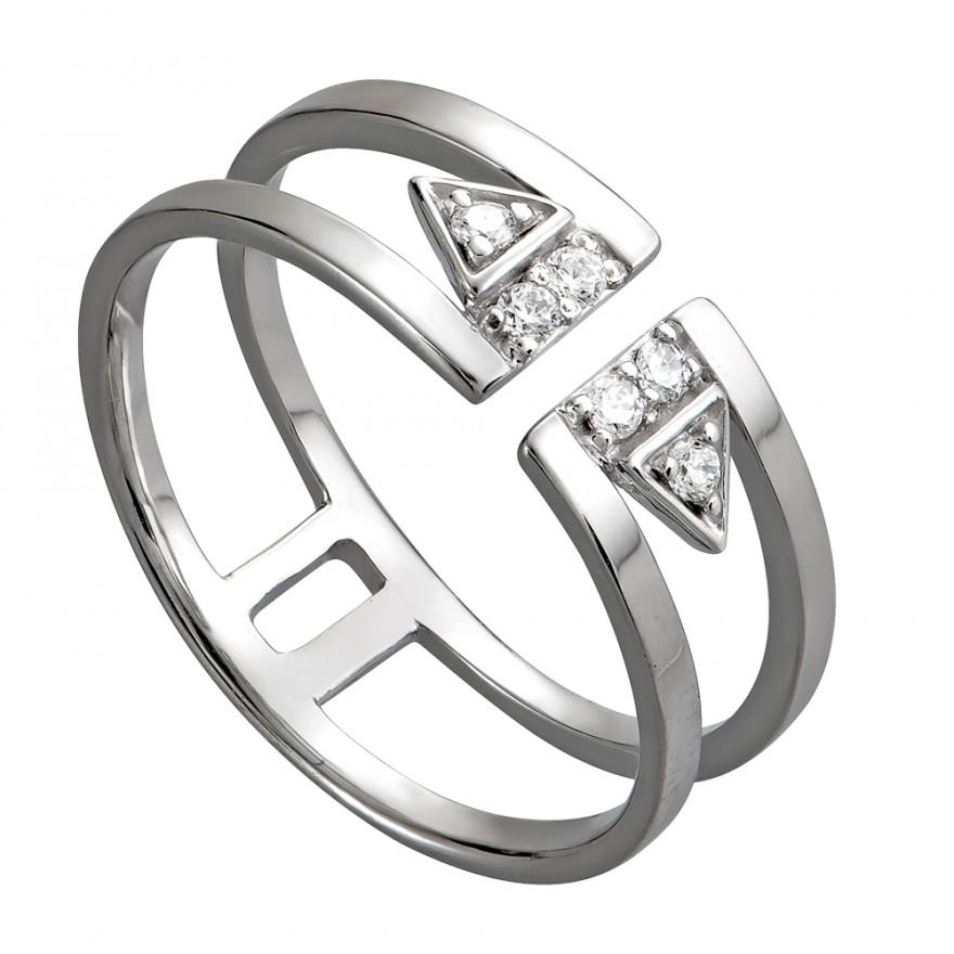 Nhẫn bạc cao cấp gắn đá trắng PNJSilver SND2KN10499.100