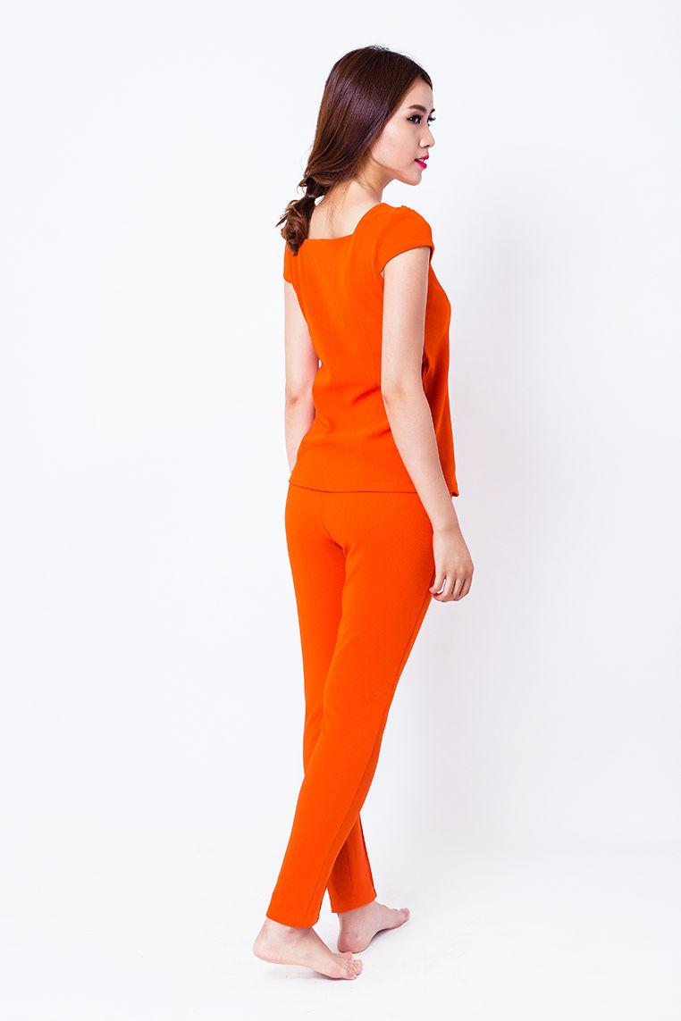 Đồ bộ mặc nhà màu cam