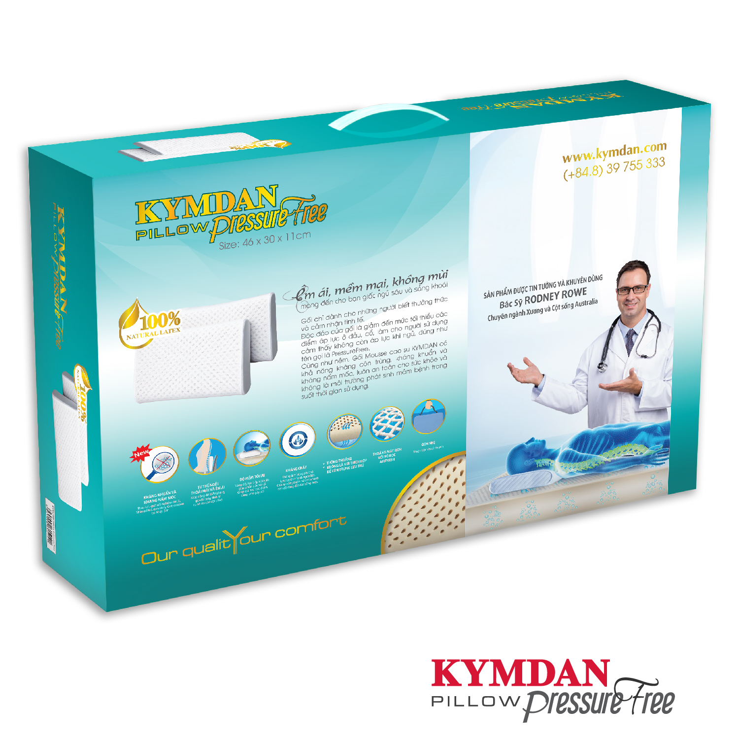 Gối Kymdan Pillow PressureFree