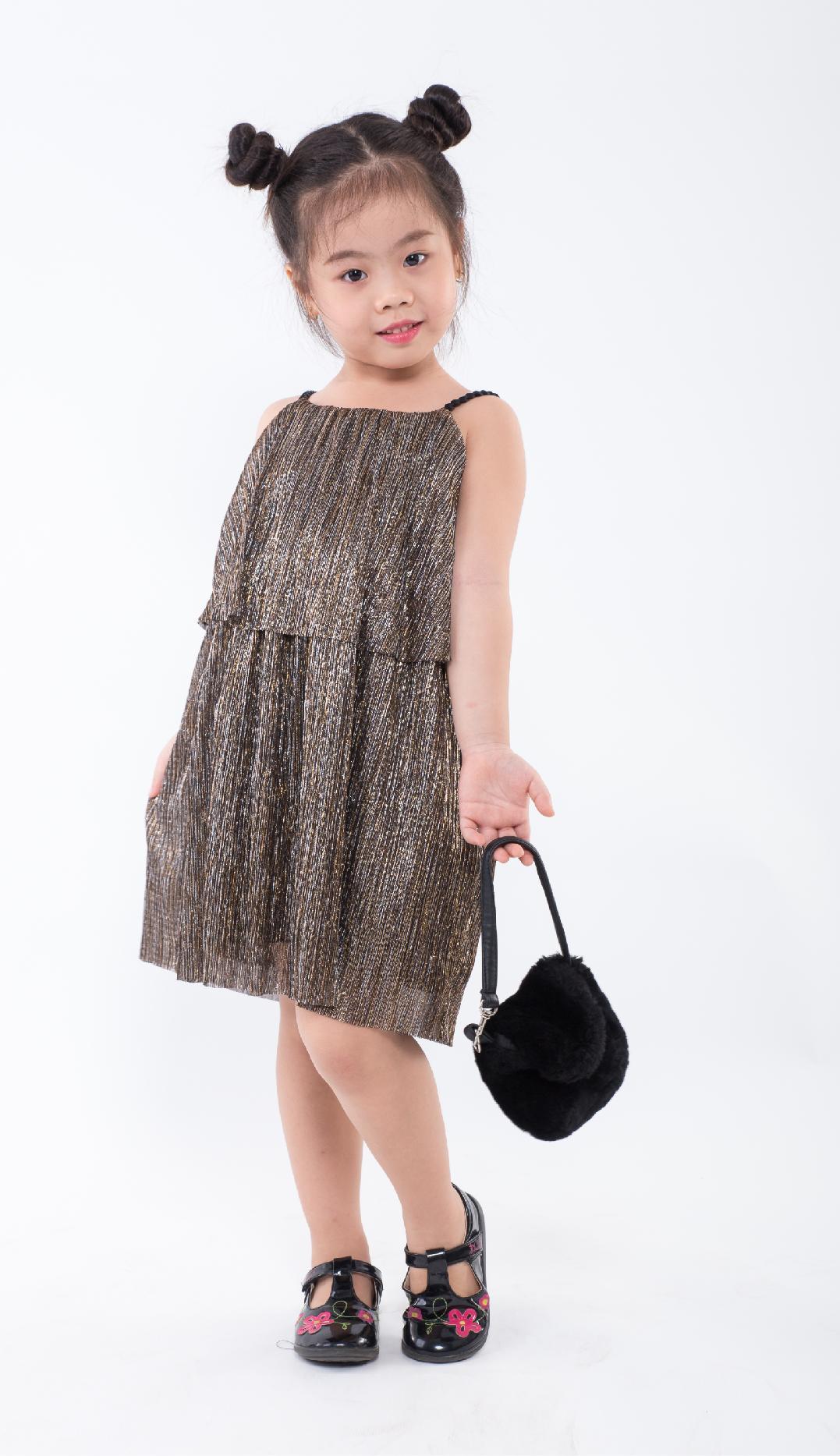 Đầm bé gái Ugether UKID165 (Vàng)
