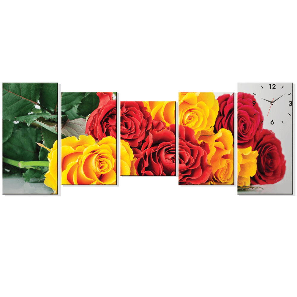 Dyvina 5T-4 đồng hồ tranh Hoa hồng