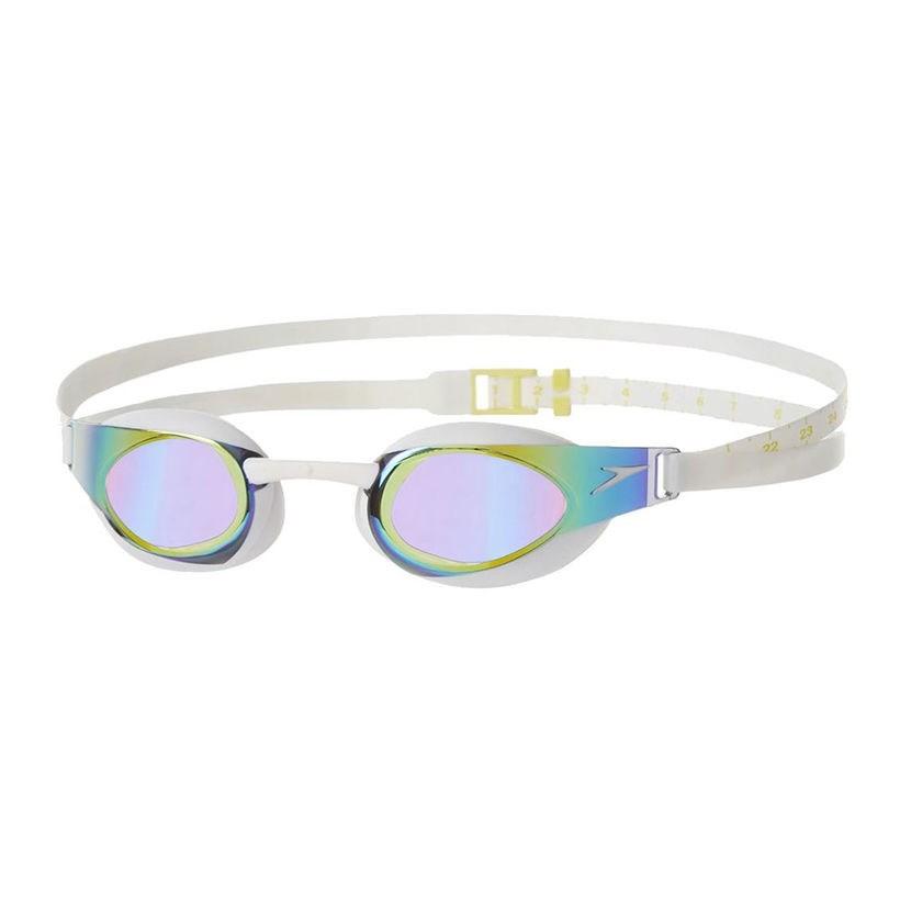 Speedo - Kính bơi Unisex Fastskin3 Elite Goggle Mirror IQfit (Đen phối xanh)