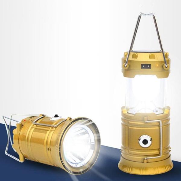 Đèn LED năng lượng mặt trời 3 trong 1 XF-5800T (Vàng)
