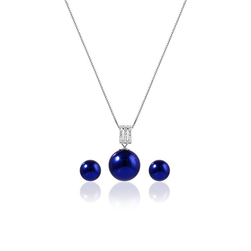 Bộ trang sức bạc Blue Pearl - Eropi Jewelry