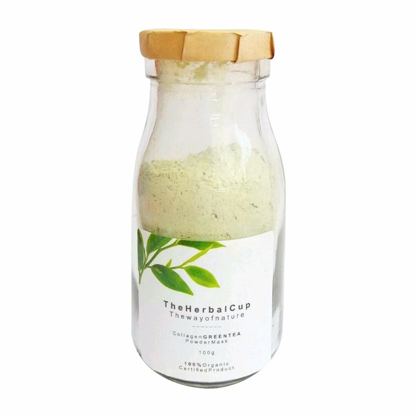 Mặt nạ bột trà xanh Collagen
