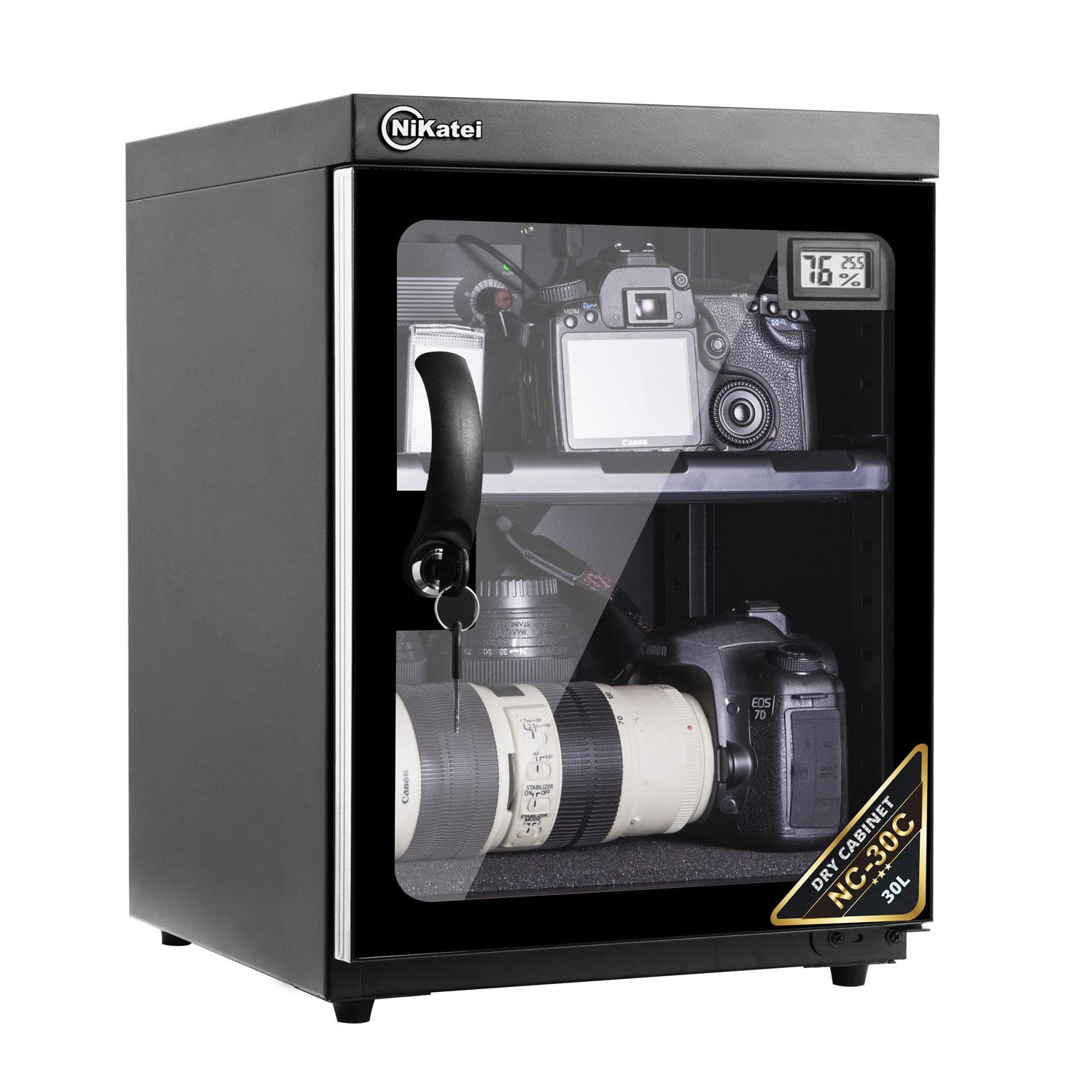 Tủ chống ẩm cao cấp Nikatei NC-30C viền nhôm mạ bạcSilver (30 lít)