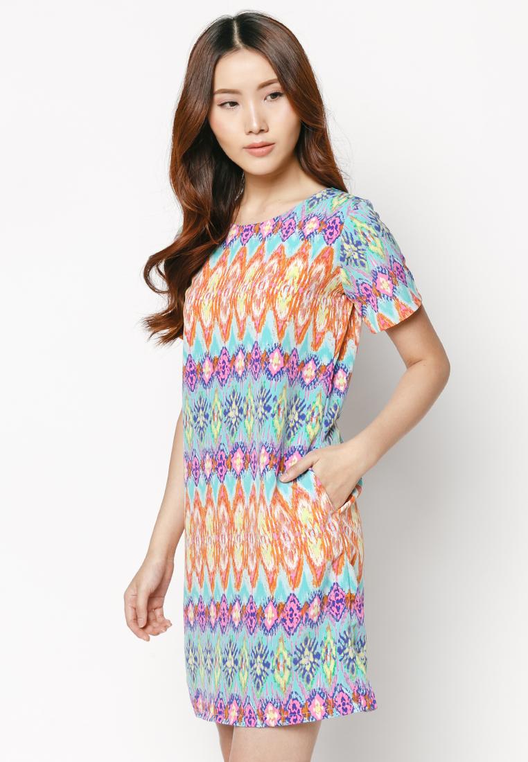 Đầm suông họa tiết HK 533