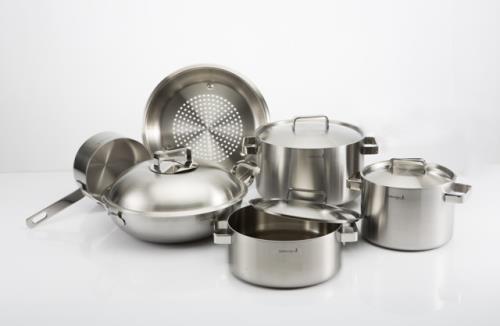 Bộ nồi Edelkochen Plus New bếp từ inox 304 3 lớp - Xuất khẩu