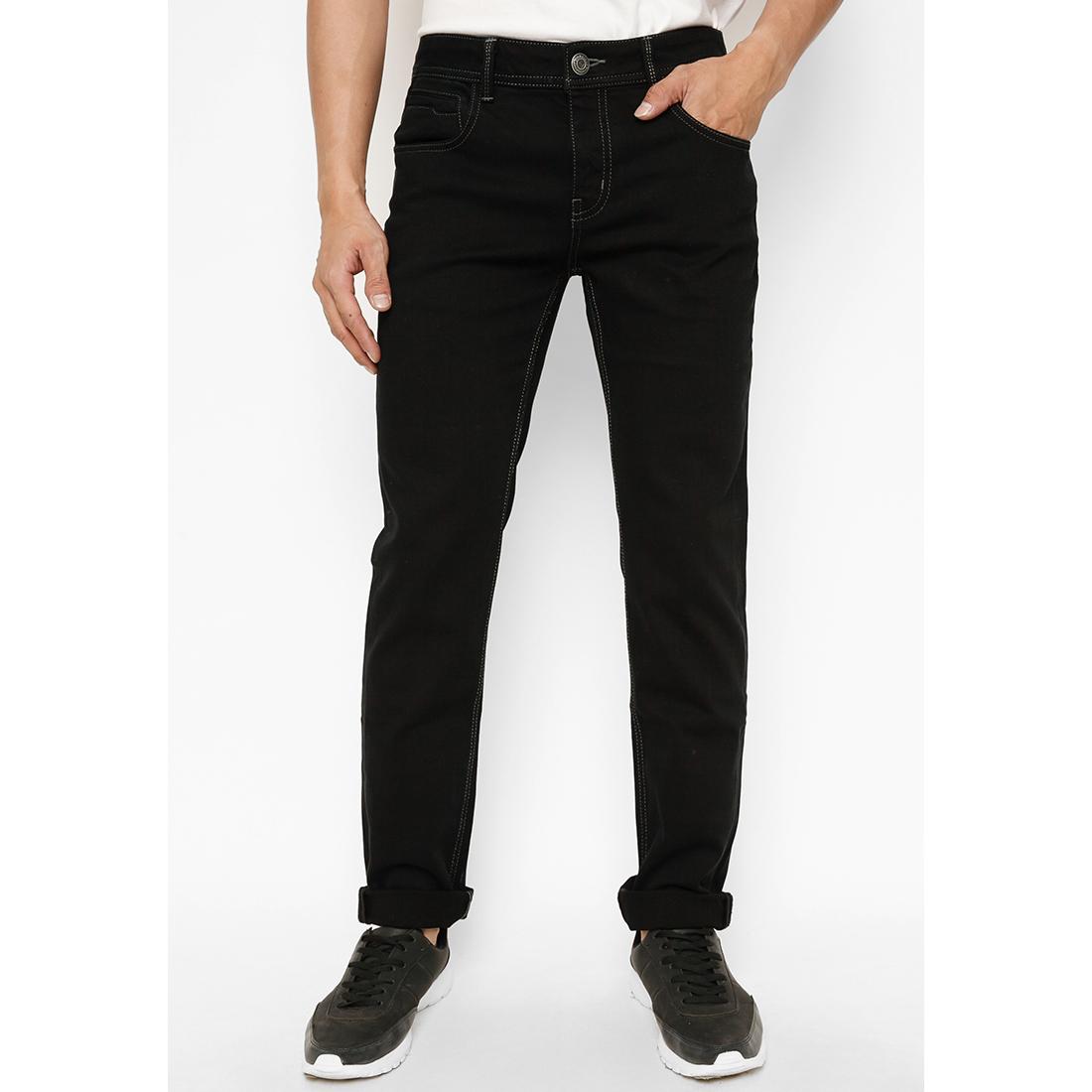 Quần jeans cotton 539 Vĩnh Tiến - JEAN 01 (đen)