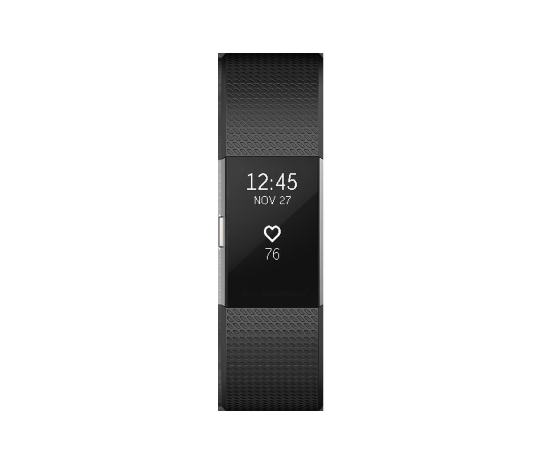 Vòng đeo sức khỏe Fitbit Charge 2 - Black silver