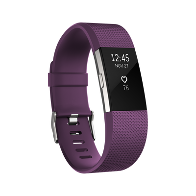 Vòng đeo sức khỏe Fitbit Charge 2 - Pourpre Silver