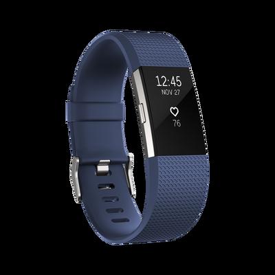 Vòng đeo sức khỏe Fitbit Charge 2 - Blue Silver