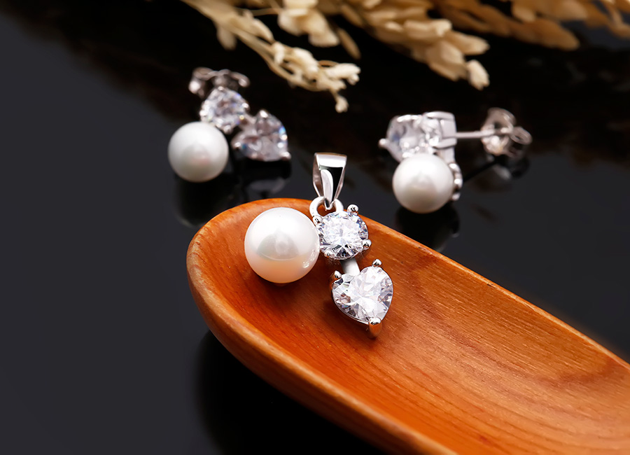 Bộ trang sức bạc ngọc trai Kissing You - Eropi Jewelry