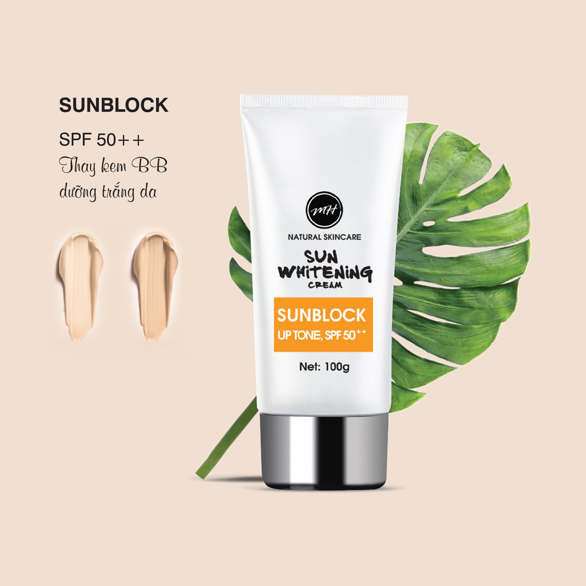 Kem chống nắng  Sun whitening cream - Sunblock SPF50++, UPTONE